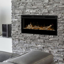 "Dimplex Wickson™ 34"" UL Listed Built-in/Wall Mounted Linear Electric Fireplace"