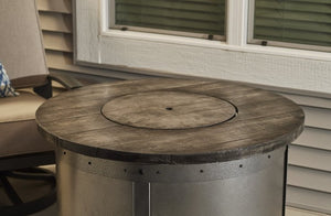 The Outdoor Greatroom company Edison Round Gas Fire Pit Table