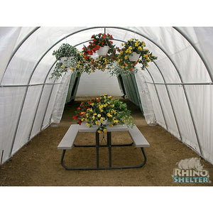 Rhino Shelters Instant Greenhouse Round 12'Wx24'Lx8'H