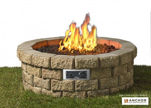 "The Outdoor Greatroom Company Round 46"" Hudson Stone™ Gas Fire Pit Kit"