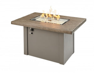 The Outdoor Greatroom Company Driftwood Havenwood Gas Fire Pit Table with Grey Base