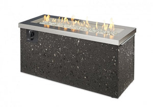 The Outdoor Greatroom Company Stainless Steel Key Largo Linear Gas Fire Pit Table