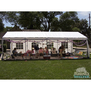 Rhino Shelters Party Tent House 14'Wx27'Lx9'H