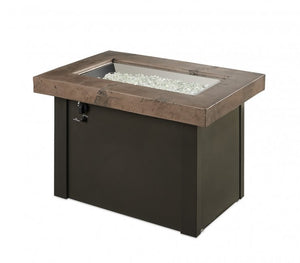 The Outdoor Greatroom Company Brown Providence Rectangular Gas Fire Pit Table