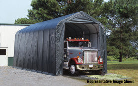 ShelterLogic ShelterCoat 16 ft. W x 44 ft. D x 16 ft. H Steel and Polyethylene Garage Without Floor with Corrosion-Resistant Frame