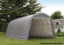 ShelterLogic ShelterCoat 15 ft. W x 28 ft. D x 12 ft. H Steel and Polyethylene Garage Without Floor with Corrosion-Resistant Frame