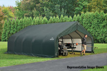 ShelterLogic ShelterCoat  18 ft. W x 28 ft. D x 9 ft. H Steel and Polyethylene Garage without Floor with Corrosion-Resistant Frame