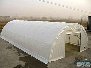 Rhino Shelters Commercial Round Truss Building 30'Wx65'Lx15'H