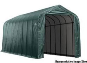 ShelterLogic ShelterCoat 15 ft. W x 24 ft. D x 12 ft. H Steel and Polyethylene Garage Without Floor  with Corrosion-Resistant Steel Frame
