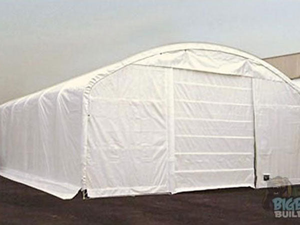 Rhino Shelters Domed Round Truss Building 40'Wx60'Lx18'H