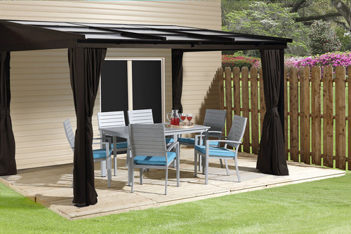ShelterLogic Sojag Sutton Wall-Mounted Gazebo 10 ft. W x 12 ft. D x 8 ft. H