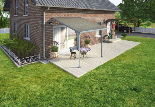 Palram Feria 10' x 10' Patio Cover - Gray