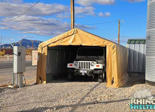 Rhino Shelters Instant Garage House 12'Wx20'Lx8'H