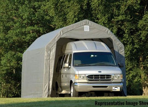 ShelterLogic ShelterCoat 12 ft. W x 28 ft. D x 11 ft. H Steel and Polyethylene Garage without Floor  with Corrosion-Resistant Frame