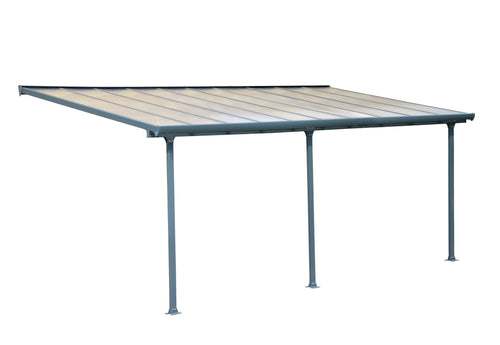 Palram Feria 10' x 20' Patio Cover - Gray