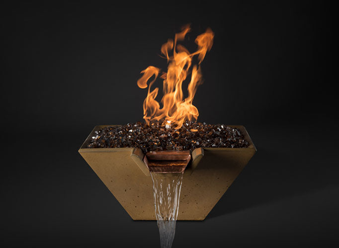 Slick Rock KCC29SPSCC Cascade Series 29-Inch Square Fire on Glass Fire Pit with Electronic Ignition