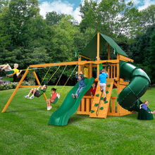 Gorilla Mountaineer Clubhouse w/ Amber Posts and Sunbrella® Canvas Forest Green Canopy