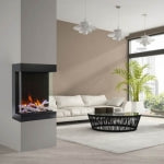 "AMANTII TRU-VIEW CUBE - 20"" 3-SIDED ELECTRIC FIREPLACE"