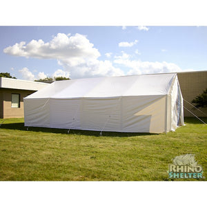 Rhino Shelters U.N. Disaster Relief Tent House 18'Wx32'Lx15'H