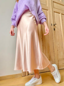 "The ""Nights in nude satin"" -skirt"