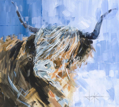 Hamish | Highland Cow Limited Edition Art Print By John Ketchell Standard 29 X 27.4Cm