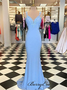 School Graduation Party Gowns, Mermaid Lace Long Prom Dresses