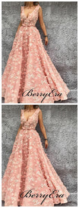 Appliques Modest Long A-line Prom Dresses, Latest Elegant Prom Dresses 2019