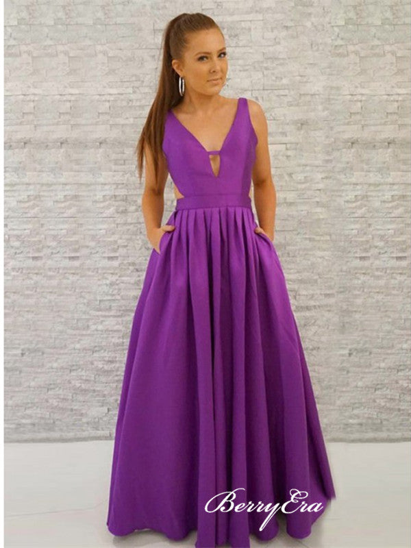Purple Popular Prom Dresses, Evening Party Prom Dresses, Newest Prom Dresses