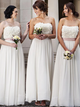 Strapless Elegant Long Bridesmaid Dresses, Newest 2020 Wedding Guest Dresses