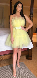 Strapless Fashion Popular Homecoming Dresses, Home Party Short Prom Dresses
