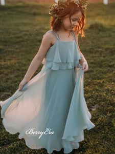 Chiffon Little Girl Dresses, Popular Lovely Flower Girl Dresses