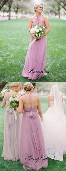 Halter Wedding Bridesmaid Dresses, Newest Chiffon Wedding Guest Dresses