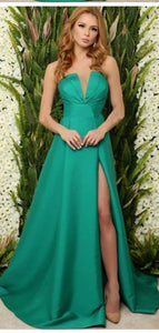 Newest Fashion Prom Dresses, 2020 A-line Long Prom Dresses