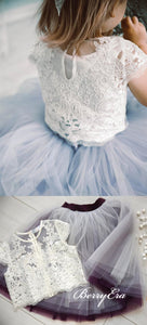 Cap Sleeves Lace Top Tulle Skirt Lovely Flower Girl Dresses