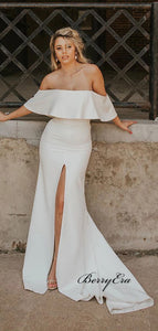 Off Shoulder Wedding Dresses, Simple Wedding Dresses, Newest Wedding Dresses