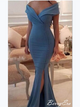 Blue Prom Dresses, Off The Shoulder Prom Dresses, Mermaid Prom Dresses