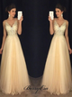 Beaded Rhinestones Tulle Prom Dresses, Fancy Long Prom Dresses, Lace Appliques Prom Dresses