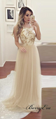 Modest Long Prom Dresses 2019, Tulle Cheap A-line Prom Dresses