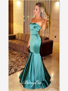 Fashion Strapless Stain Prom Dresses, Modest Party Prom Dresses