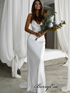 Simple Popular Wedding Dresses, Spaghetti Straps Wedding Dresses