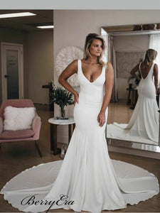 Mermaid Fashion Wedding Dresses, Simple Popular Wedding Dresses