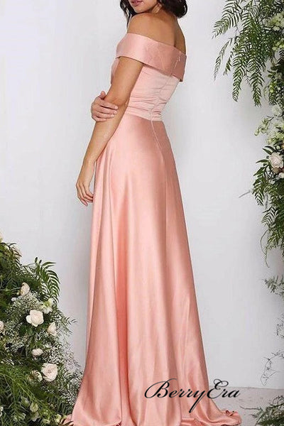 Off The Shoulder Bridesmaid Dresses, A-line Prom Dresses, Wedding Guest Dresses