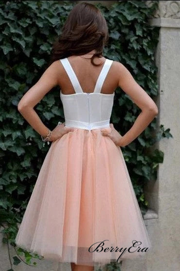 Simple A-line Tulle Home Party Homecoming Dresses