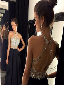 Fancy Beauty Beads Open Back Prom Dresses, Bling Prom Dresses, Long Prom Dress