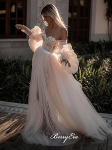 Elegant Wedding Dresses, Long Sleeves Wedding Dresses, Lace 2020 Wedding Dresses
