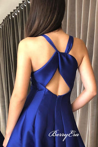 2019 Modest Cheap A-line Prom Dresses, Fantastic Satin Prom Dresses