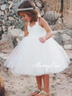 Ivory Tulle Flower Girl Dresses, Cute Flower Girl Dresses, Simple Flower Girl Dresses