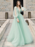 Long Sleeves A Line Popular Prom Dresses, Elegant Long Prom Dresses, 2021 Evening Party Dresses