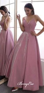 Sweetheart Strapless Long Prom Dresses, A-line Fancy 2020 Prom Dresses