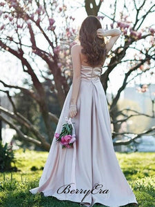 Halter Popular Long Prom Dresses, 2020 A-line Newest Prom Dresses, Party Dresses